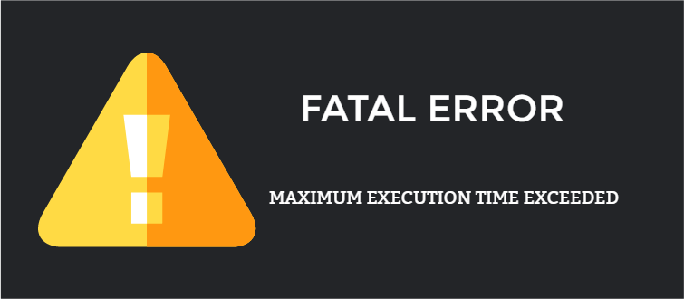Maximum execution time exceeded in WordPress