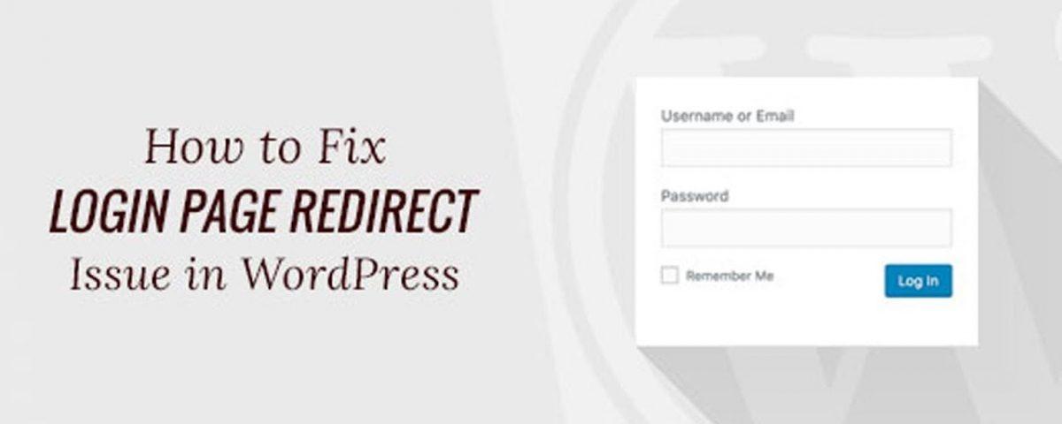 WordPress login page refreshing redirecting issue